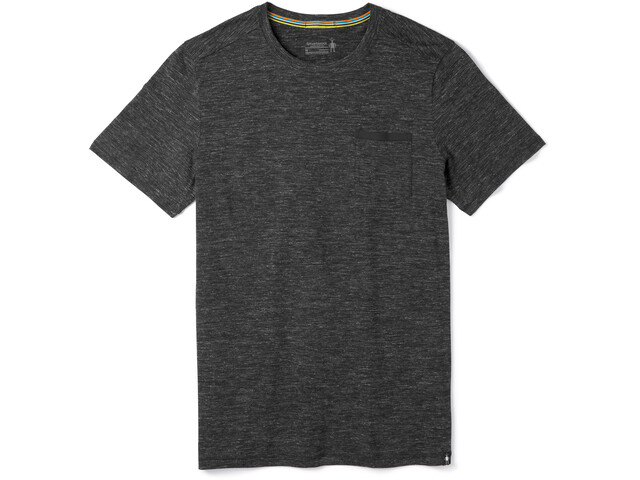Smartwool Everyday Exploration T-Shirt z kieszonką Mężczyźni, black heather